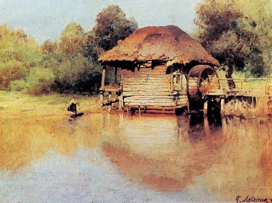 Водяная мельница в Украине (с