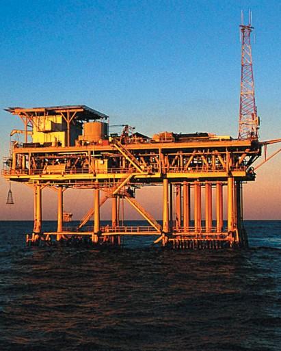 Одна из морских платформ,
