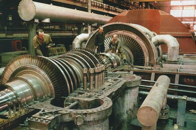 Сборка паровой турбины на