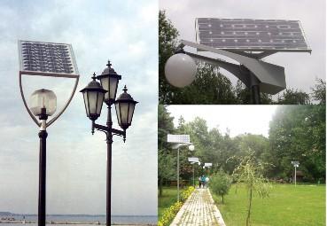 Система фотоэлектрического освещения ботанического сада